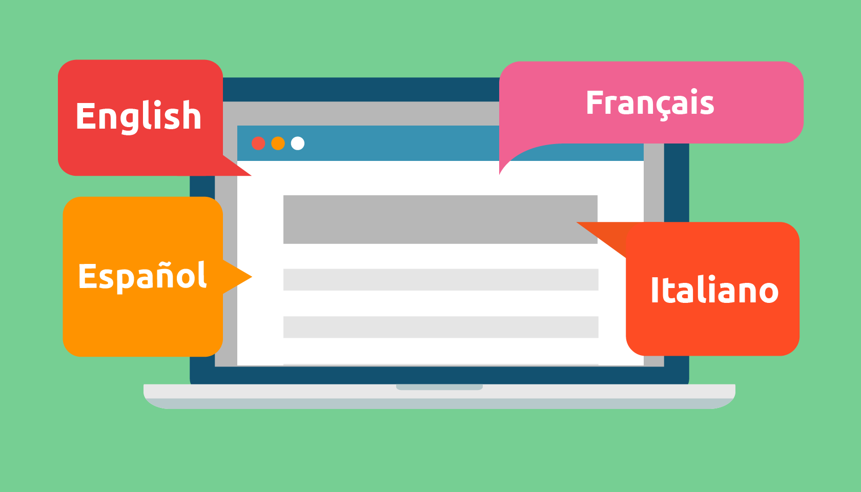 Diverses langues pour traduire son site web